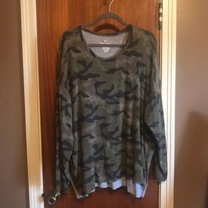 American eagle cozy camouflage shirt.